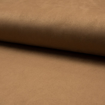 Camel heavy scuba suede fabric