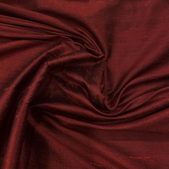 100% silk shimmer dupion fabric burgundy