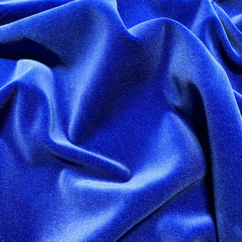 Tissu velours 100% coton bleu roi