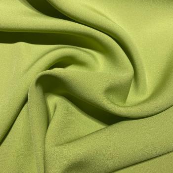 Tissu caddy crêpe envers satin vert anis
