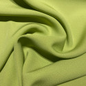 Anise green satin cady crepe fabric