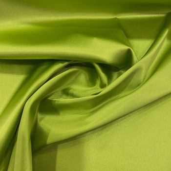 Anise green stretch satin crepe caddy fabric
