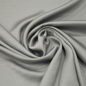Pearl grey satin cady crepe fabric