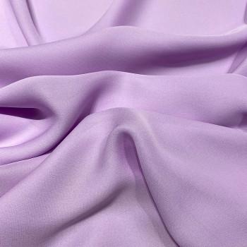 Parma purple fluid silk crepe dobby fabric