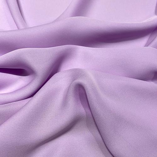 Tissu crêpe de soie fluide violet parme
