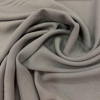 Tissu crêpe mousse gris