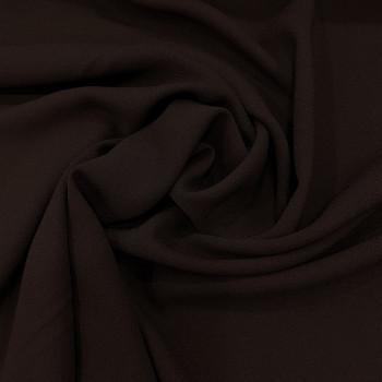 Tissu crêpe mousse marron