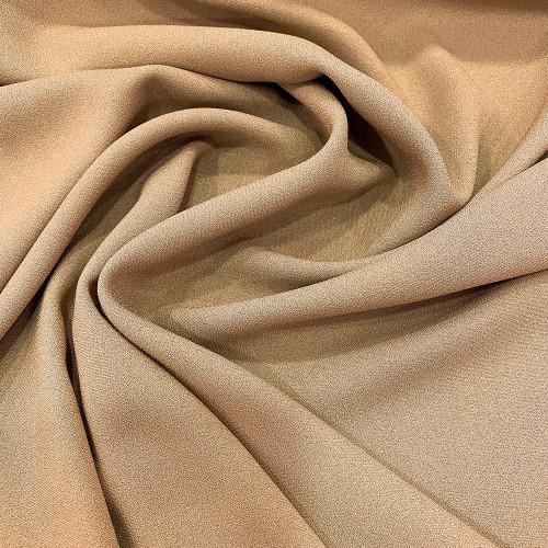 Tissu crêpe mousse beige