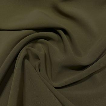 Tissu double crêpe vert kaki