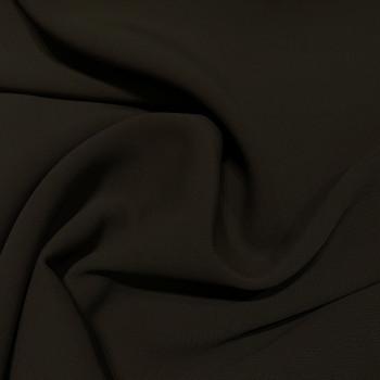 Double crepe fabric dark khaki green