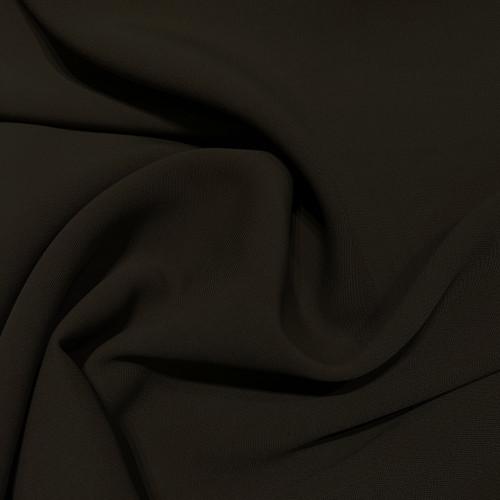 Tissu double crêpe vert kaki foncé