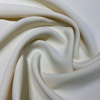 Double crepe fabric egg shell white