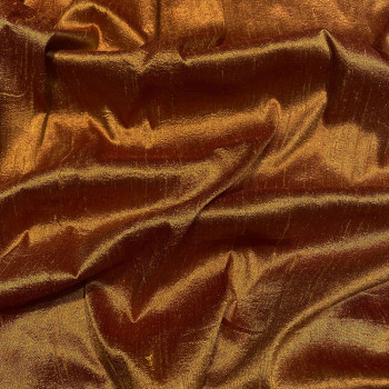 100% silk shimmer dupion fabric whisky
