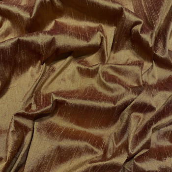 100% silk shimmer dupion fabric copper