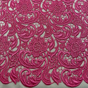Tissu guipure rose indien