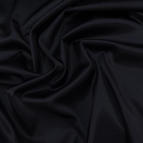 Tissu caddy crêpe envers satin stretch bleu marine
