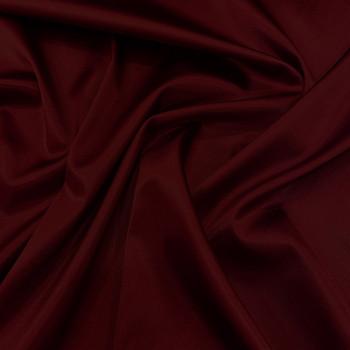 Tissu caddy crêpe envers satin stretch bordeaux