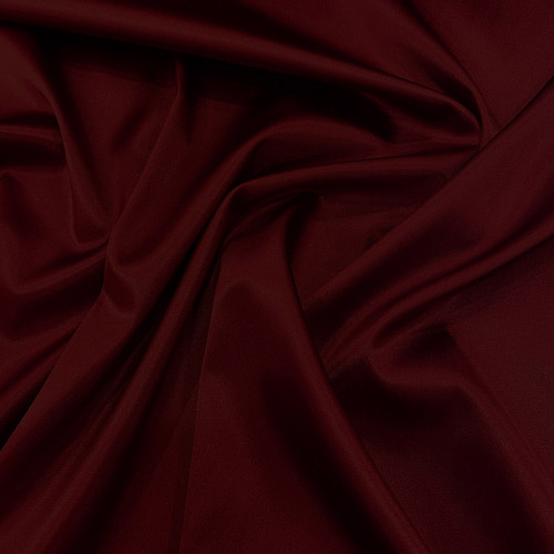 Tissu caddy crêpe envers satin stretch bordeaux