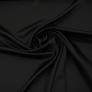 Tissu caddy crêpe envers satin noir