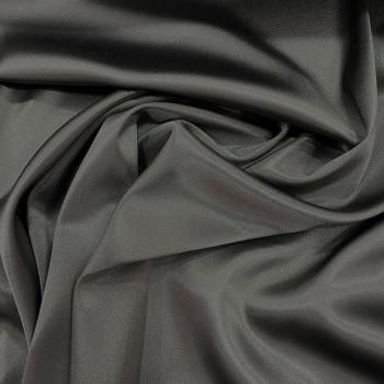 Steel grey stretch satin crepe caddy fabric