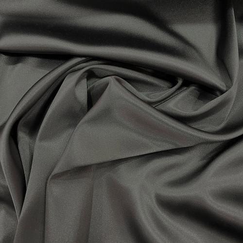Tissu caddy crêpe envers satin stretch gris acier
