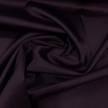 Plum purple stretch satin crepe caddy fabric