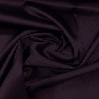 Tissu caddy crêpe envers satin stretch violet prune
