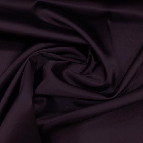 Tissu caddy crêpe envers satin stretch violet prune