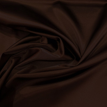 Brown stretch satin crepe caddy fabric