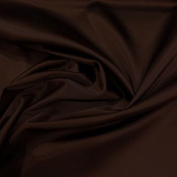 Tissu caddy crêpe envers satin stretch marron