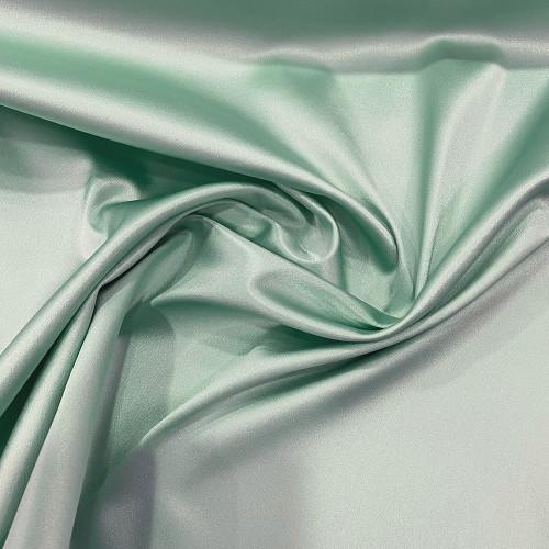 Tissu caddy crêpe envers satin stretch vert Nil