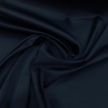 Tissu caddy crêpe envers satin stretch bleu nuit