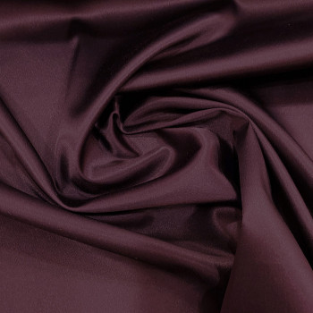 Tissu caddy crêpe envers satin stretch violet aubergine