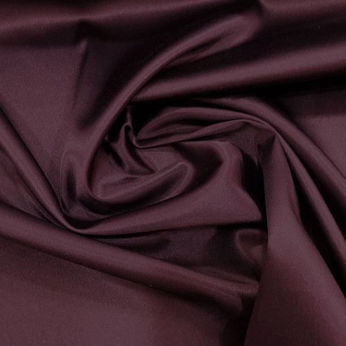 Tissu caddy crêpe envers satin stretch violet aubergine