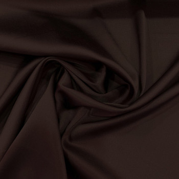 Tissu caddy crêpe envers satin stretch marron glacé