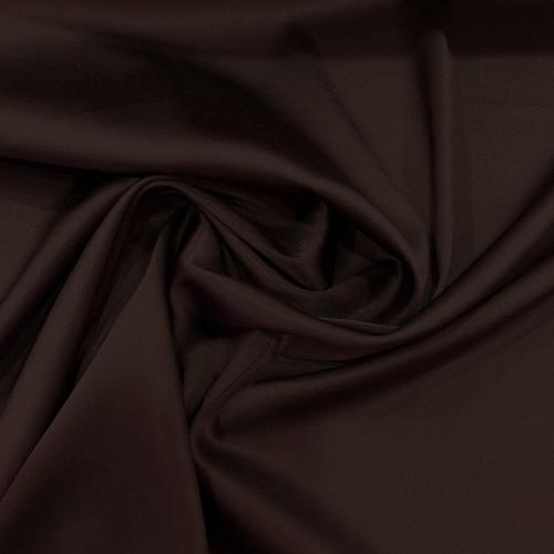 Tissu caddy crêpe envers satin stretch marron glacé