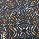 Tissu satin polyester imprimé animal abstrait