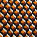 Tissu twill imprimé géométrique rouille 100% viscose