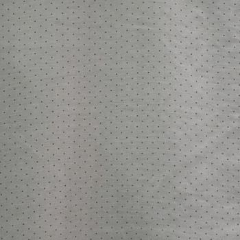 Tissu voile coton soie imprimé tête d'épingle gris