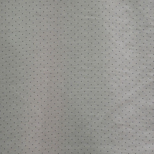 Voile fabric cotton silk printed pinhead grey