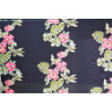 Flower printed cotton silk voile fabric