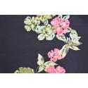 Tissu voile coton soie imprimé fleurs