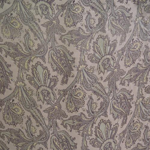 Paisley printed silk chiffon fabric