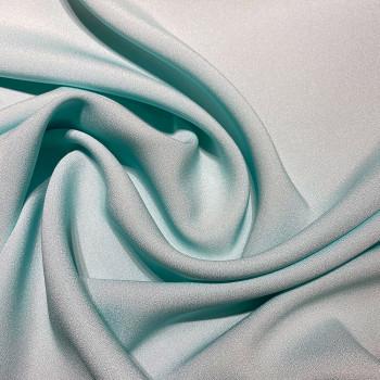 Sky blue satin cady crepe fabric