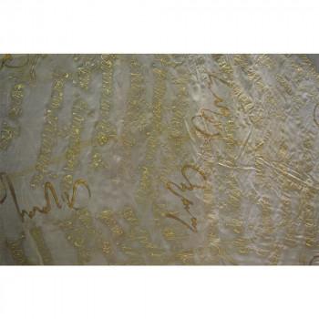 Tissu mousseline soie peint à la main «écritures»