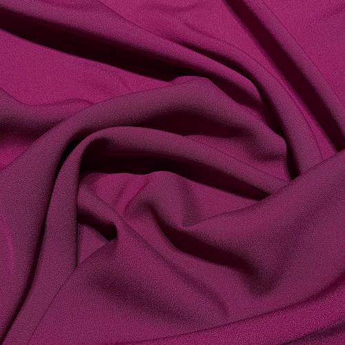 Plum purple satin cady crepe fabric