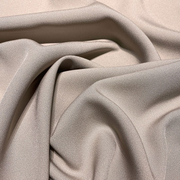 Taupe beige satin cady crepe fabric