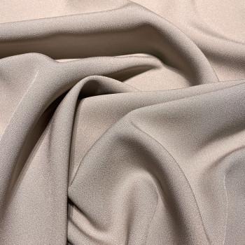 Tissu caddy crêpe envers satin beige taupe