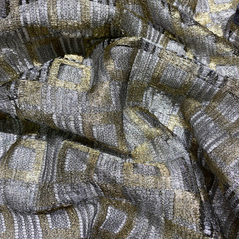 Calais lace gold/silver laminette