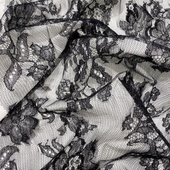 Black Calais lace
